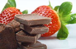Chocolate and Strawberries Stock Photography