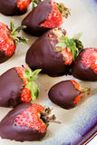 Chocolate strawberries Royalty Free Stock Photo