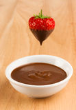 Chocolate Strawberry Stock Image