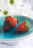 Chocolate strawberry Royalty Free Stock Images