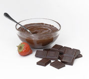 Chocolate strawberry. Royalty Free Stock Images