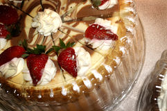 Chocolate and Strawberry Cake Stock Photos