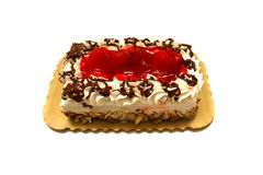 Chocolate And Strawberry Cake Royalty Free Stock Image