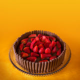 Chocolate and Strawberry Cake Stock Photography