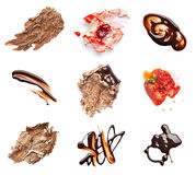 Chocolate and strawberry cake stain fleck food dessert Stock Photography