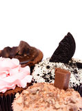 Chocolate Strawberry Cookies and cream cup cake Royalty Free Stock Photo