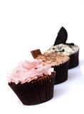 Chocolate Strawberry Cookies and cream cup cake Stock Image