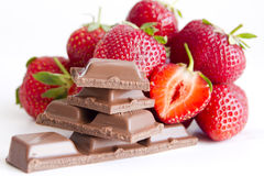Chocolate with strawberry filling Stock Images