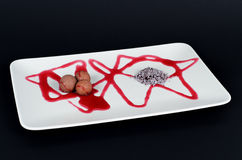 Chocolate and strawberry gourmet dessert Royalty Free Stock Photography