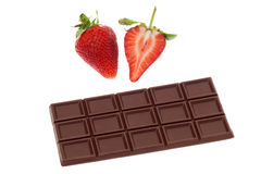 Chocolate and strawberry Royalty Free Stock Photo