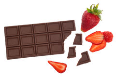 Chocolate and strawberry Stock Photo