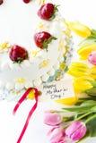 Chocolate Strawberry Lemon Torte Royalty Free Stock Image