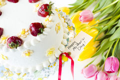 Chocolate Strawberry Lemon Torte Royalty Free Stock Photo