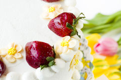 Chocolate Strawberry Lemon Torte Royalty Free Stock Photography