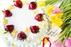 Chocolate Strawberry Lemon Torte Stock Image