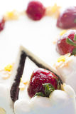 Chocolate Strawberry Lemon Torte Royalty Free Stock Photography