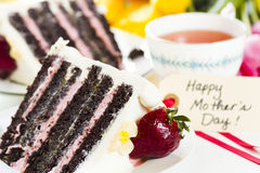 Chocolate Strawberry Lemon Torte Stock Photos