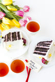 Chocolate Strawberry Lemon Torte Royalty Free Stock Photos