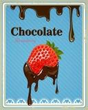 Chocolate Strawberry Sign Stock Photos