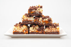 Chocolate streusel Stock Images