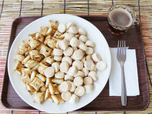 chocolate stuffed biscuits and Thai cookies Kanom Ping Stock Photography