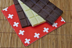 Chocolate suíço Fotografia de Stock