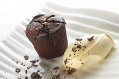 Chocolate suffle stock photo