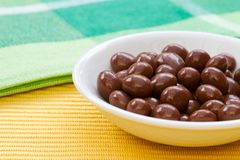 Chocolate sultanas Stock Photos