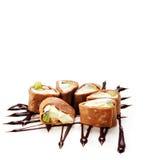 Chocolate Sushi Roll Stock Photo