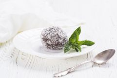 Chocolate sweet cake Stock Photos