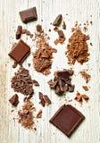 Chocolate sweet food dessert stock photo