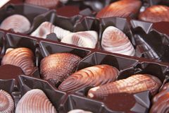 Chocolate sweet-shells Royalty Free Stock Photos