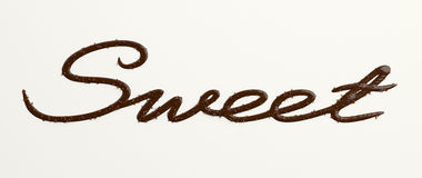 Chocolate Sweet text II Royalty Free Stock Photos