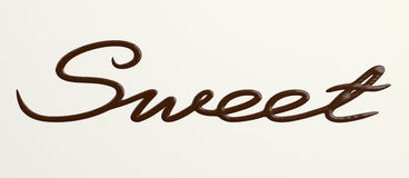 Chocolate Sweet text Stock Photography