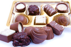 Chocolate sweetmeats Stock Photos