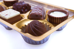 Chocolate sweetmeats in box Stock Image