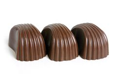 Chocolate sweets. On a white background Stock Photo