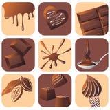 Chocolate sweets. Icons -  illustration Royalty Free Stock Photo