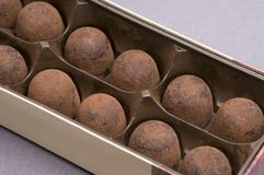 Chocolate sweets. Collection of chocolate sweets in a box set Royalty Free Stock Images