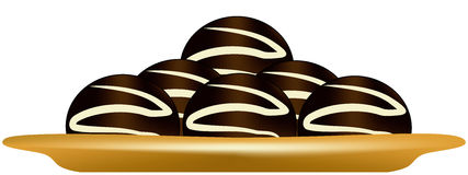 Chocolate sweets. On the saucer Royalty Free Stock Photography