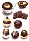 Chocolate sweets Royalty Free Stock Image