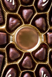 Chocolate sweets. In box close up Stock Image