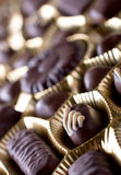 Chocolate sweets. In box close up Stock Images