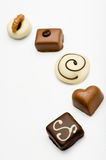 Chocolate sweets assortment Royalty Free Stock Images