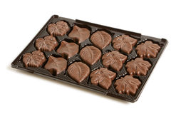 Chocolate sweets in a box Royalty Free Stock Photo