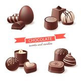 Chocolate sweets and candies Stock Images