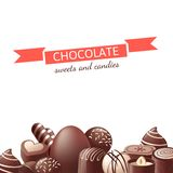 Chocolate sweets and candies Royalty Free Stock Images
