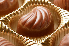 Chocolate sweets close up Royalty Free Stock Photography