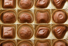 Chocolate sweets close up Royalty Free Stock Images