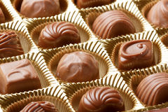 Chocolate sweets close up Royalty Free Stock Photo